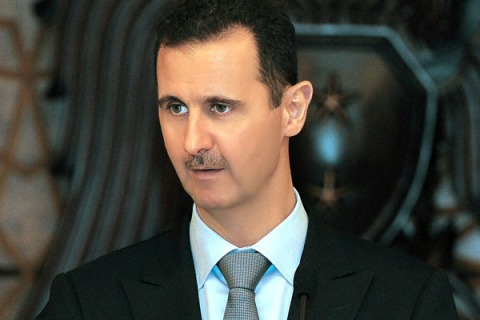 Syrian President Assad speaks during Iftar banquet