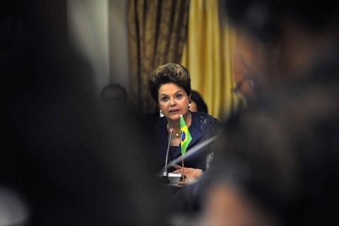 Brazilian President Dilma Rousseff speak