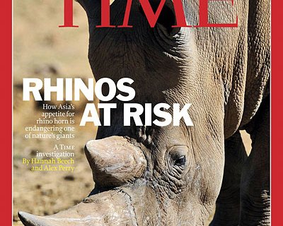Rhinos At Risk TIME Cover
