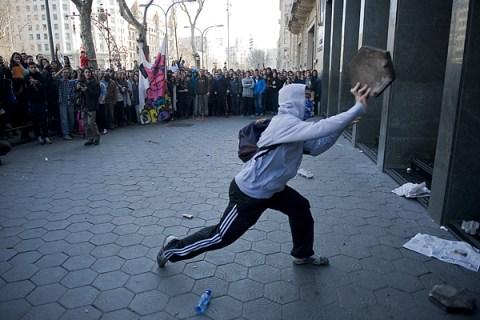 University Students Protest In Barcelona