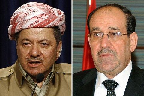 Massud Barzani and Nuri al-Maliki