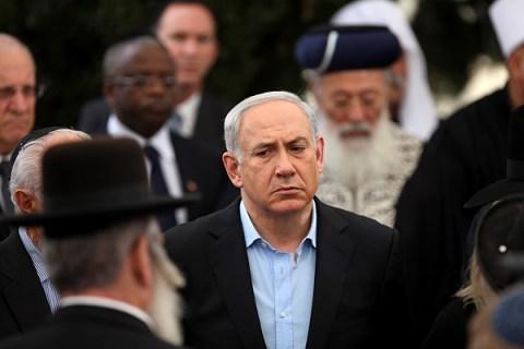 Funeral of Benzion Netanyahu in Jerusalem, Israel