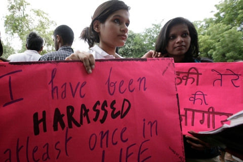 Besharmi Morcha or Slutwalk In New Delhi