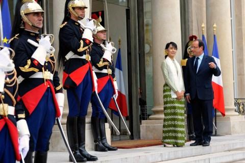 Aung San Suu Kyi in France