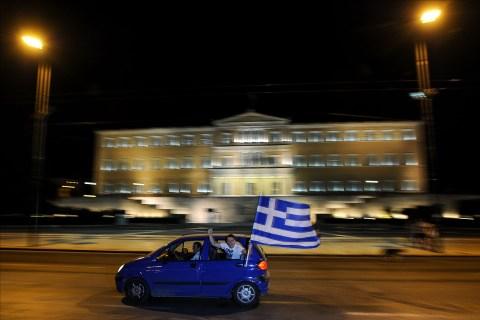 Greek supporters