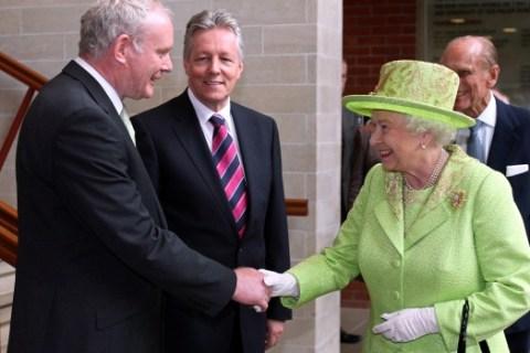 Queen Elizabeth with McGuinness