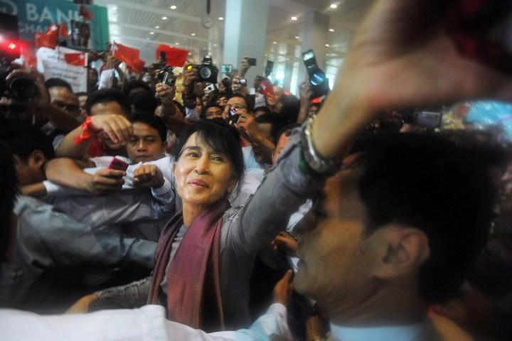 Aung San Suu Kyi returns to Burma