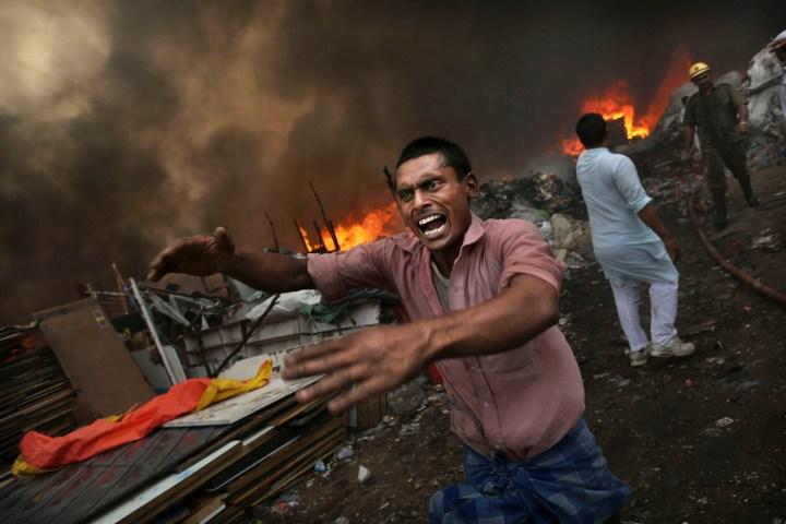 India Shantytown Fire