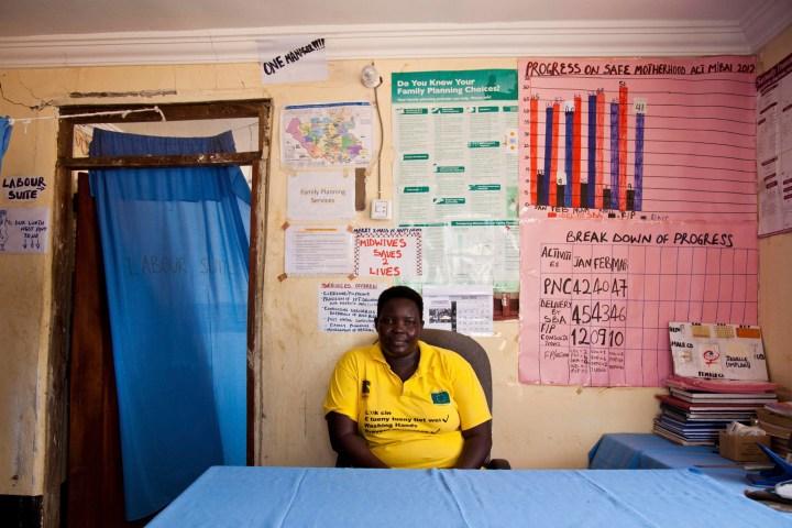 Judith Aweko Taban poses for a photograph at the Malualbai Primary Health Care Center in Malualbai