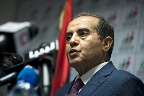 Mahmoud Jibril Press Conference in Libya