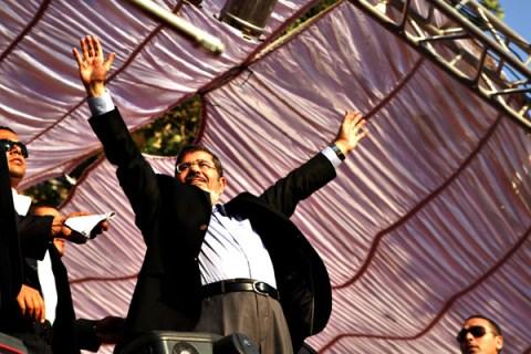 Mohamed Morsi Gives First Speech