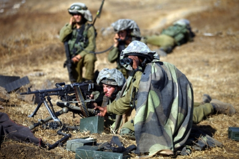 Military exercise  in the Golan Heights