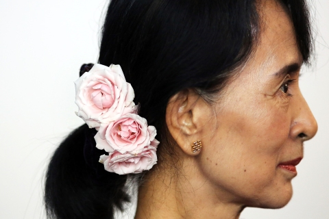 Aung San Suu Kyi Tours the United States
