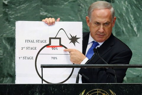 Netanyahu points to a red line