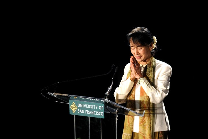 Aung San Suu Kyi Tours the United States
