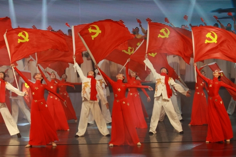 CIVIL SERVANTS AND EMPLOYEES PERFORM IN A GALA IN CHINA