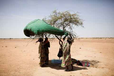 Refugees from North Mali