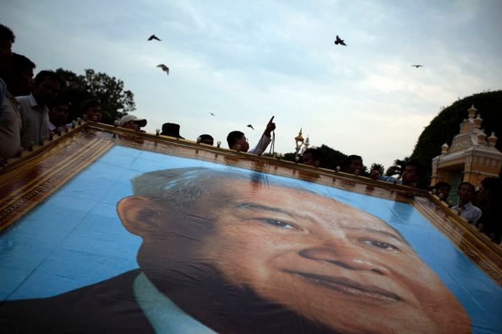 Cambodia Mourns Former King