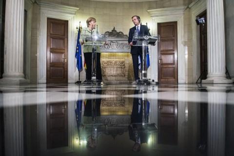 Merkel visits Athens