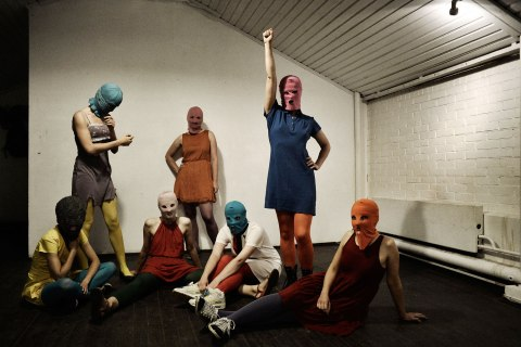 Image: Members of the dissident punk collective Pussy Riot