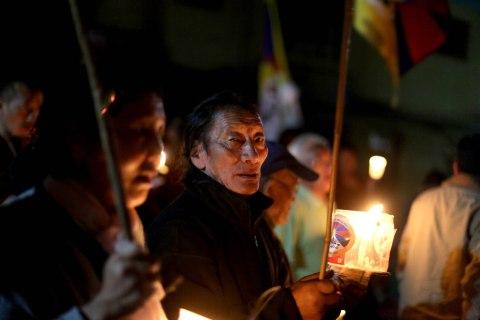 Vigil in Dharamsala, India
