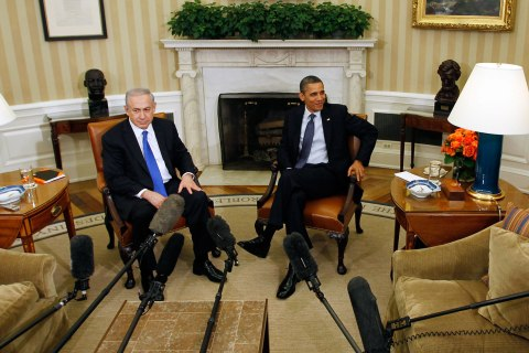 image: U.S. President Barack Obama meets with Israel's Prime Minister Benjamin Netanyahu in the Oval Office of the White House in Washington, March 5, 2012.