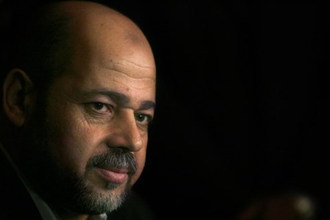 image: Moussa Abu Marzook attends a press conference in Cairo, Oct. 8, 2008.