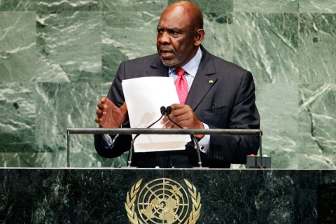 image: Mali Prime Minister Cheick Modibo Diarra addresses the 67th session of the United Nations General Assembly at U.N. headquarters on Sept. 26, 2012.