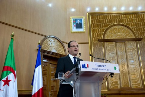 François Hollande in Algeria