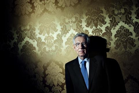 image: Mario Monti at Palazzo Chigi in Rome, Feb of 2012.