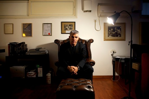 Yair Lapid, popular former TV anchorman and head of the new centrist party Yesh Atid,  at his house in Tel Aviv, June. 16, 2013.