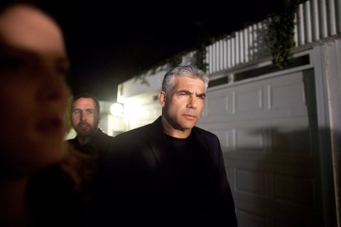 Yesh Atid Leader Yair Lapid Delivers Speech Outside His Home