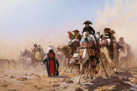 image: Napoleon and His General Staff in Egypt by Jean-Leon Gerom
