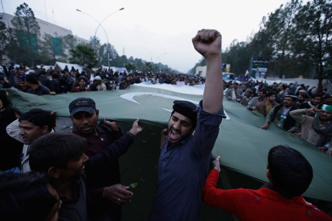 Protests in Islamabad January 16, 2013.