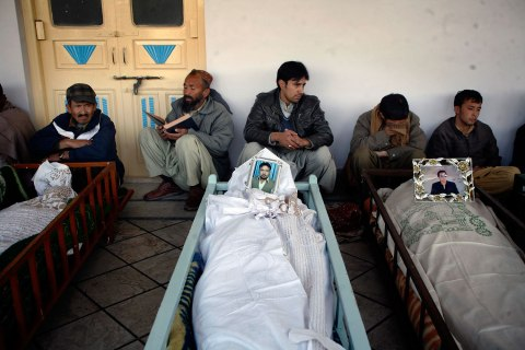 People at funeral in Quetta,  Pakistan