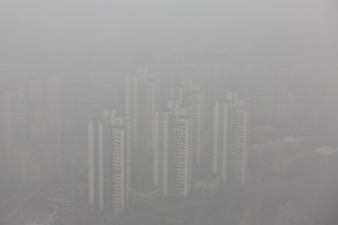 Severe Air Pollution In Beijing