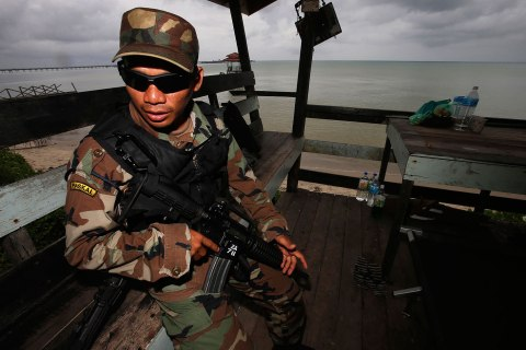 Malaysian soldier