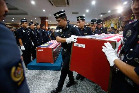 Malaysian commando coffin