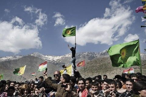 Kurds celebrate Newroz in the PKK controlled area of Qandil in the north of Iraqi Kurdistan.