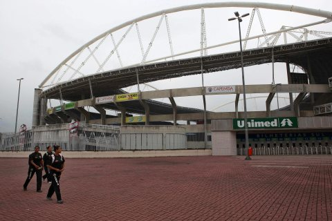 The Joao Havelange stadium in Rio de Janeiro, Brazil on March 27, 2013.