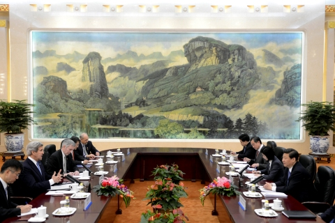 U.S. Secretary of State Kerry Meets With Chinese Foreign Minister