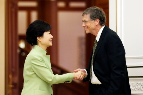 Bill Gates and South Korean President Park Geun-hye