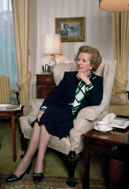 Margaret Thatcher in Downing Streeet