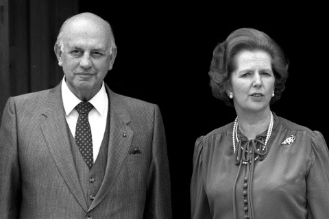 Thatcher and Botha at Chequers