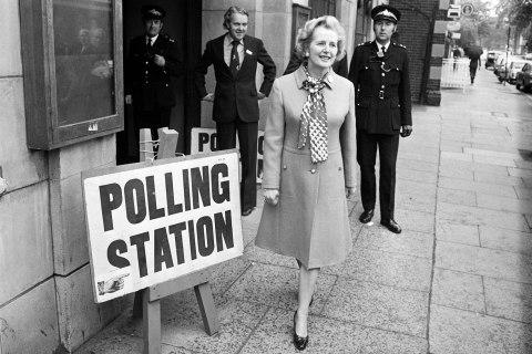 Conservative Party Leader M. Thatcher