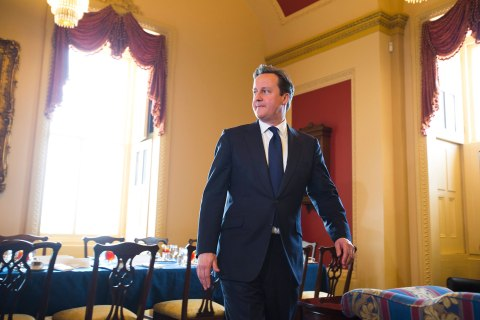 Prime Minister Cameron Meets With Majority Leader Reid