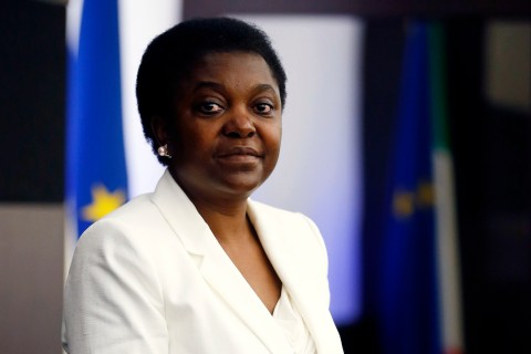 Italian Minister for Integration Cecile Kyenge poses during a news conference in Rome May 3, 2013.