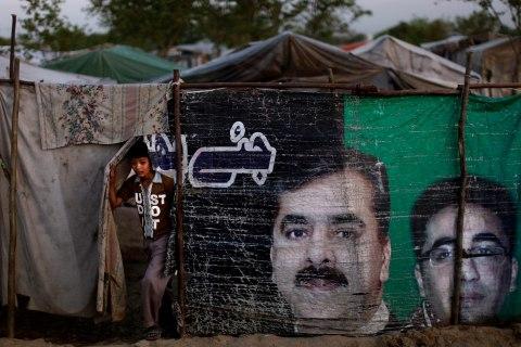 A Pakistani in a Christian slum on the outskirts of Islamabad, Pakistan, on April 5, 2013.