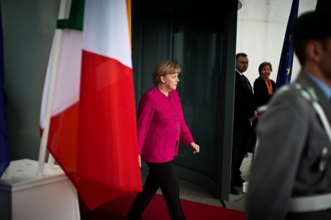 Merkel meets with Italy's new PM Enrico Letta