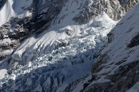 The Khumbu Glacier, one of the longest glaciers in the world, in the Everest-Khumbu region, on Dec. 4, 2009.
